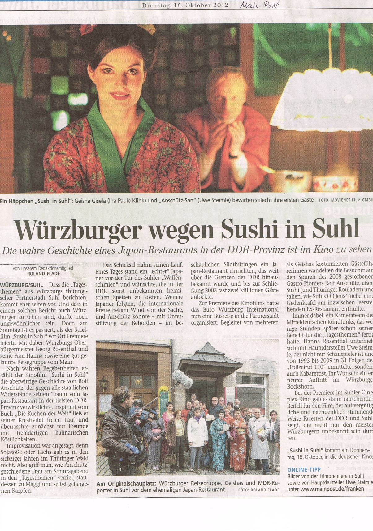 Sushi in Suhl Artikel Main-Post